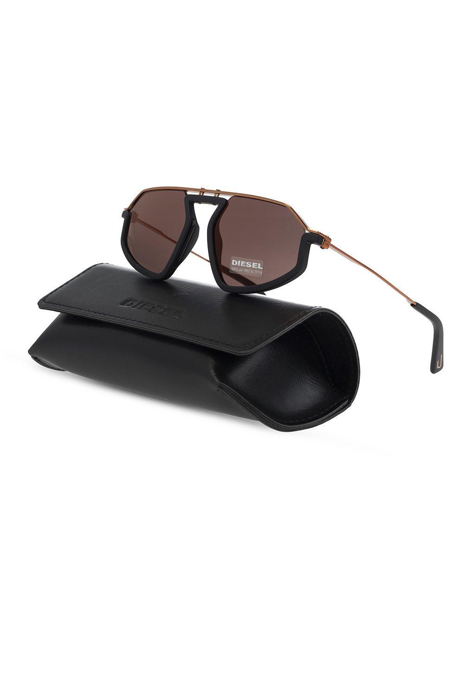 Diesel Logo-embossed sunglasses