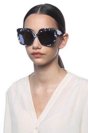 Black and white frame sunglasses od Mykita