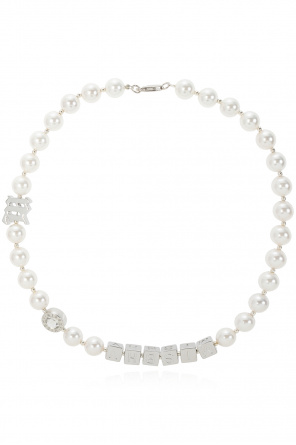 Pearl necklace with monogram od MISBHV