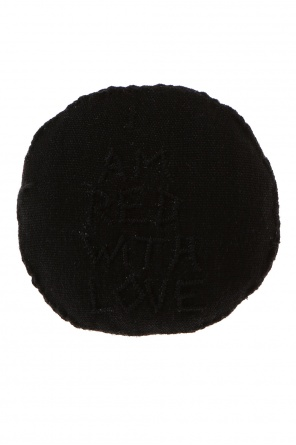 Embroidered round brooch od Ann Demeulemeester