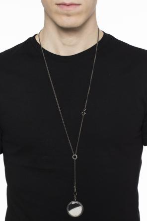 Silver necklace with round charm od Ann Demeulemeester