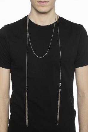 Fringed silver necklace od Ann Demeulemeester