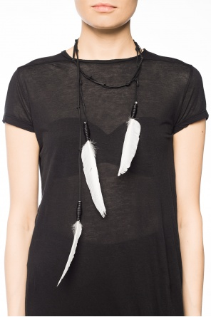 Necklace with feathers od Ann Demeulemeester
