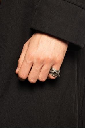 Srebrny pierścień od Ann Demeulemeester