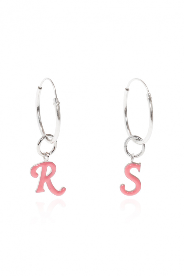 Raf Simons Silver earrings with charms