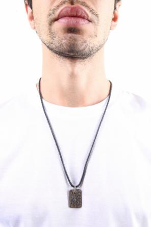 Leather necklace with pendant od Bottega Veneta