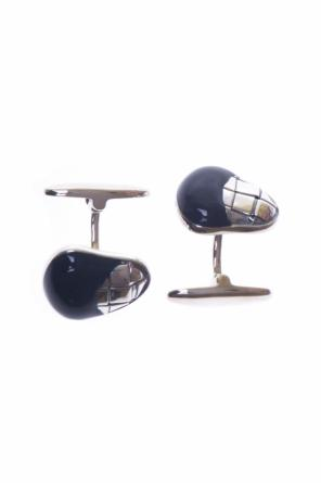 Silver cufflinks covered with enamel od Bottega Veneta