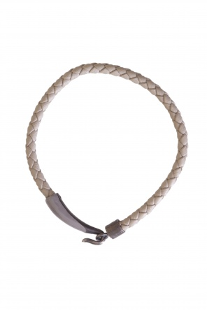 Leather woven bracelet od Bottega Veneta
