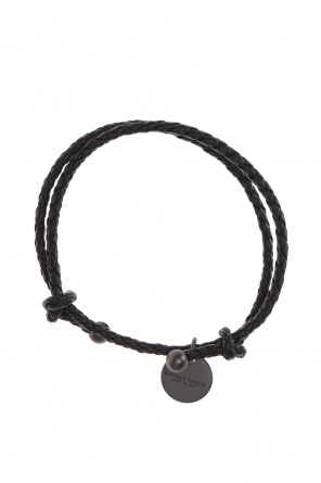 'intrecciato' leather bracelet od Bottega Veneta