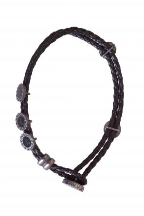 Leather double-stranded bracelet od Bottega Veneta