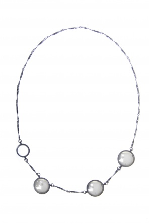 Silver necklace with pendants od Bottega Veneta