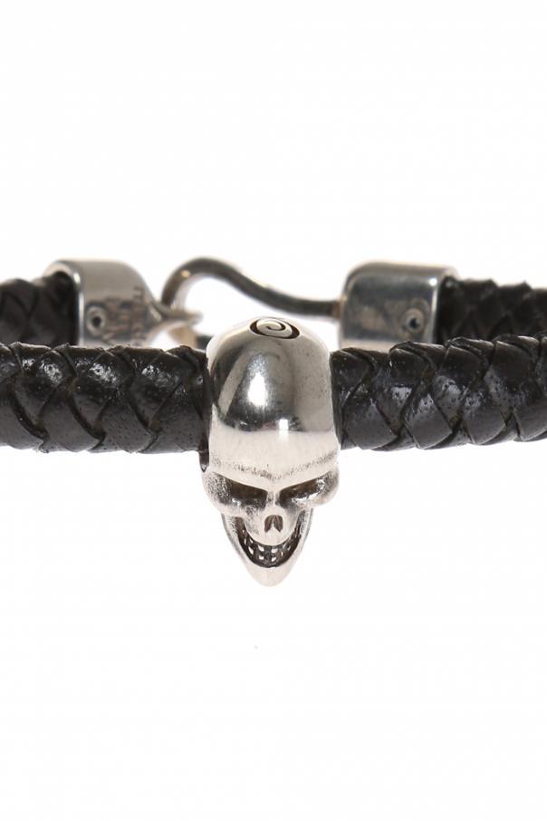 Leather braided bracelet od Alexander McQueen