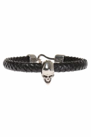 Leather braided bracelet od Alexander McQueen