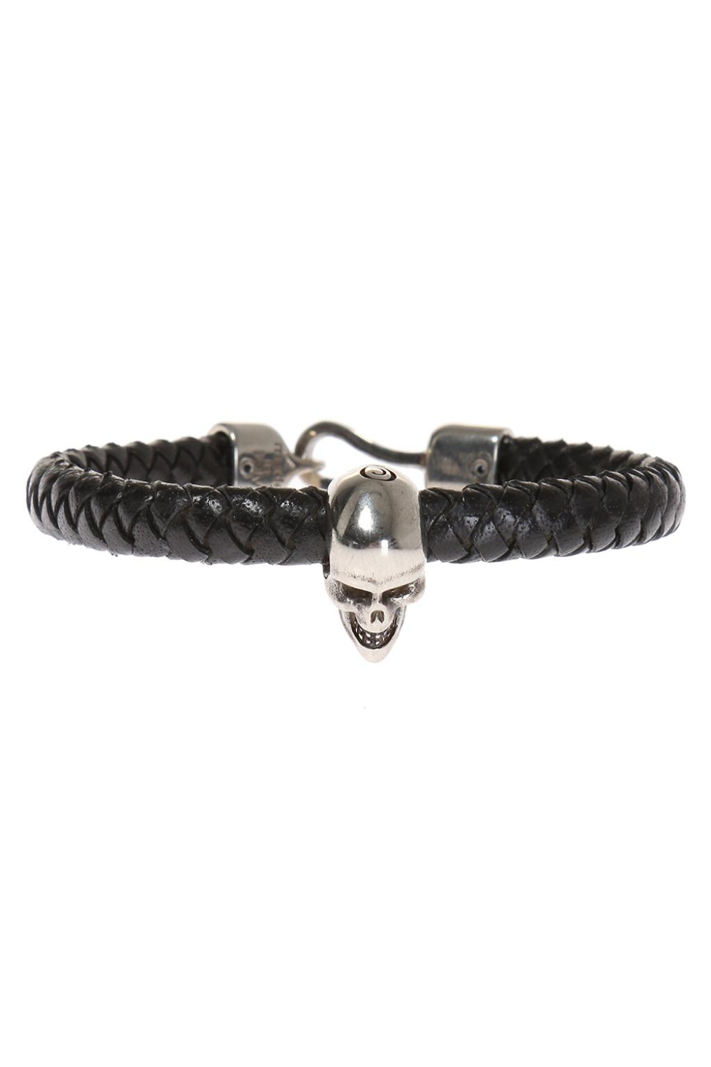 Alexander McQueen Leather braided bracelet