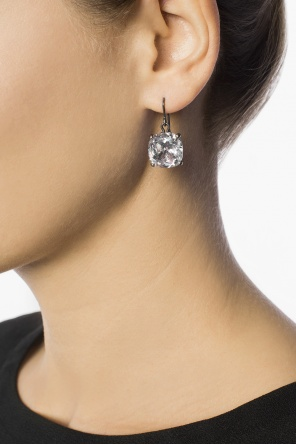 Silver earrings with zirconias od Bottega Veneta