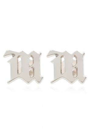 Srebrne kolczyki z logo od MISBHV