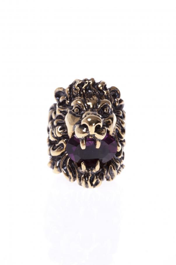 f343b063349 Lion s Head-Shaped Ring Gucci - Vitkac shop online