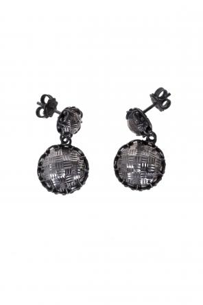 Silver earrings od Bottega Veneta