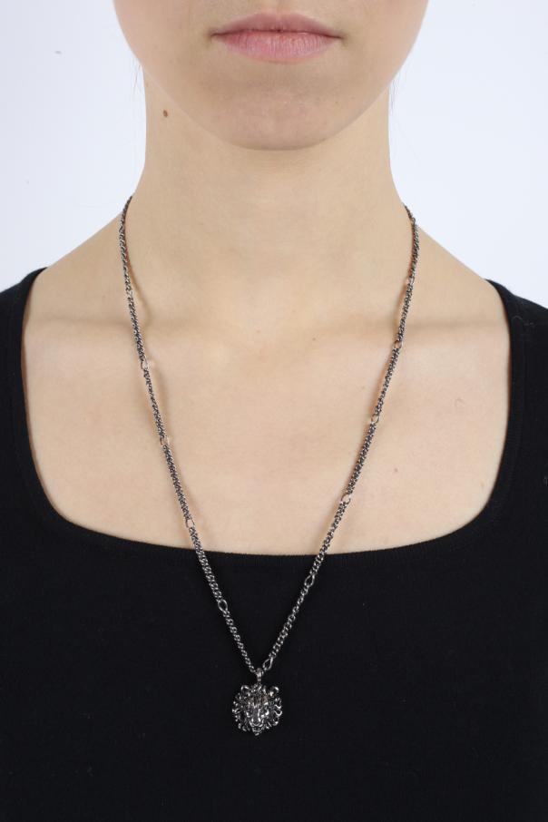 e7d6eae577b2e8 Lion Head-Shaped Pendant Necklace Gucci - Vitkac shop online