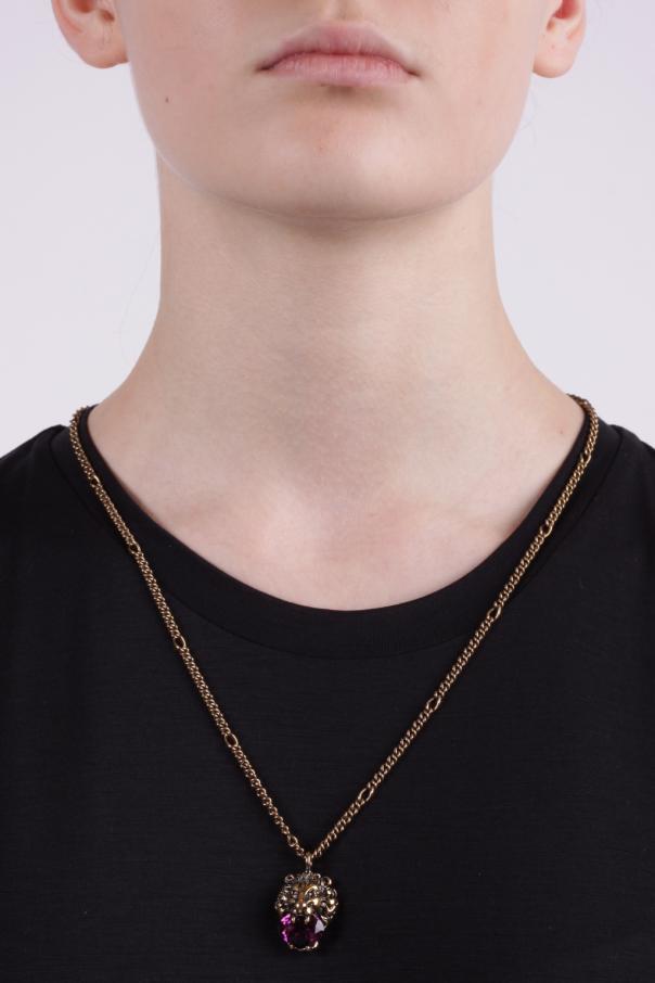 2a3e56bc9e907c Lion Head Necklace Gucci - Vitkac shop online
