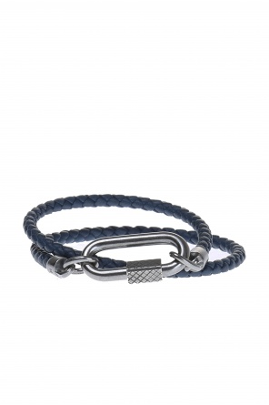 Braided leather bracelet od Bottega Veneta