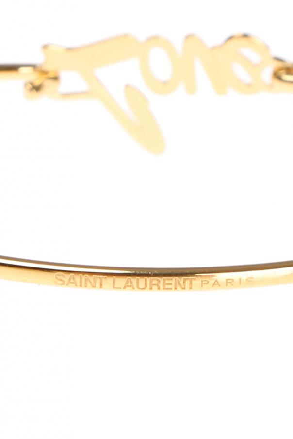 Bransoleta z napisem 'love' od Saint Laurent Paris