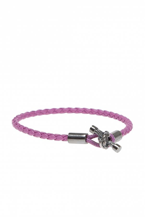Braided Leather Bracelet Bottega Veneta Vitkac Shop Online