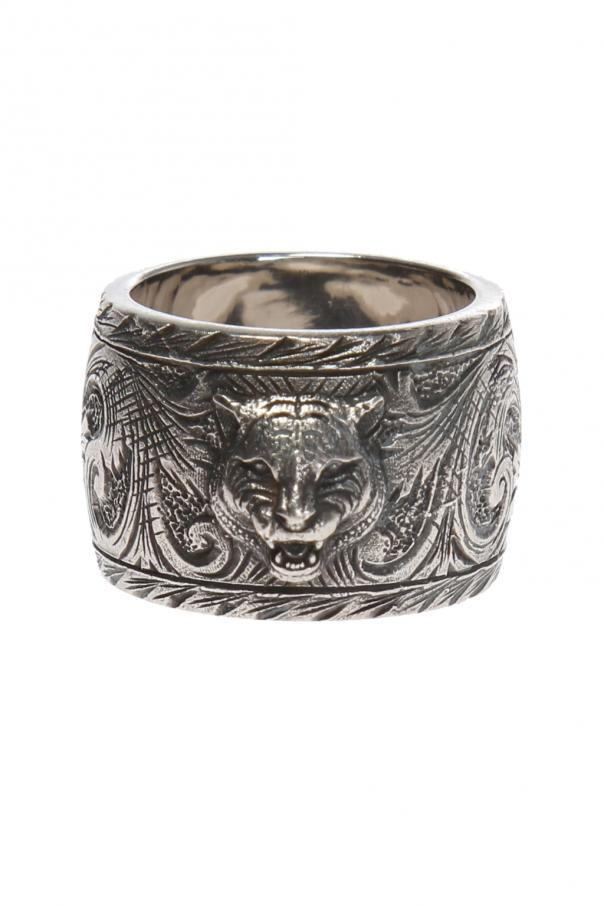 847472c83 Tiger motif ring Gucci - Vitkac shop online