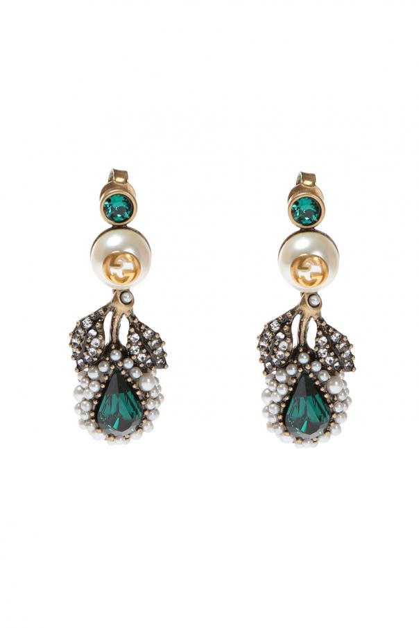 b67793952df Crystal-embellished earrings Gucci - Vitkac shop online