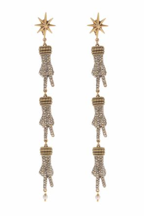 Hand motif clip-on earrings od Gucci