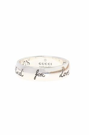 Ring with the inscription: 'blind for love' od Gucci