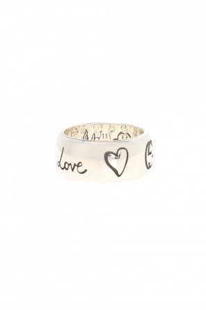 Ring with a logo and an inscription od Gucci