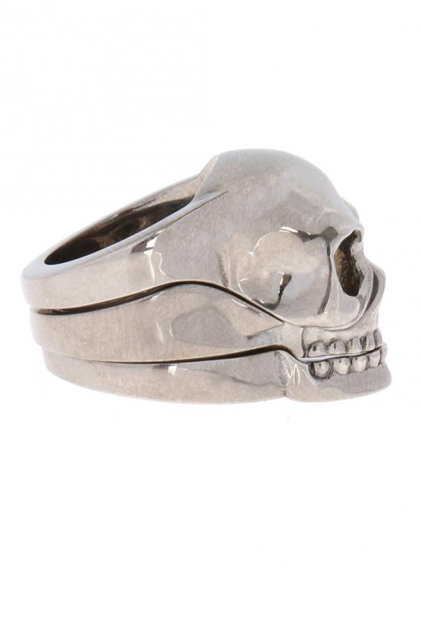 Triple ring with skull od Alexander McQueen