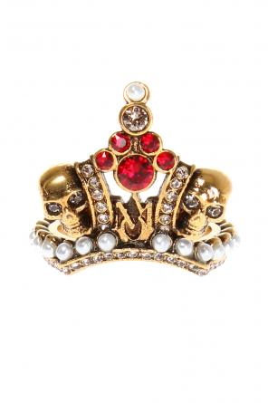 Crown motif ring od Alexander McQueen