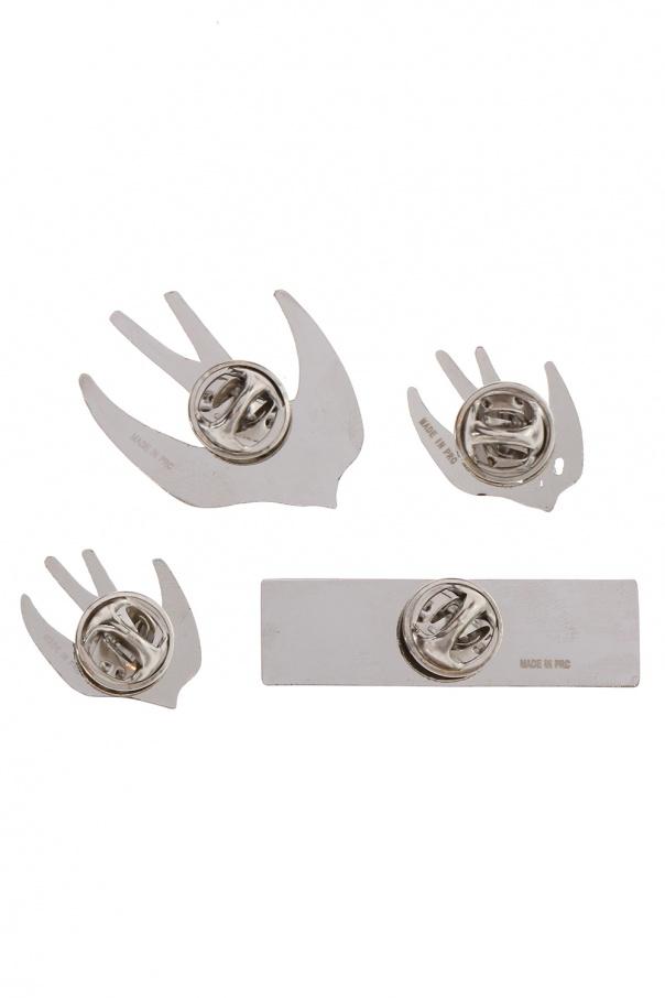 Set of 4 pins od McQ Alexander McQueen
