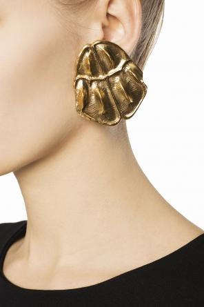 Embossed clip-on earrings od Saint Laurent Paris