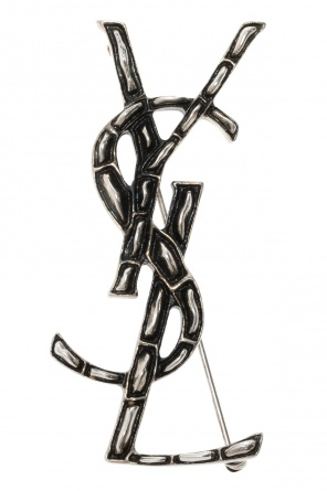 Logo brooch od Saint Laurent