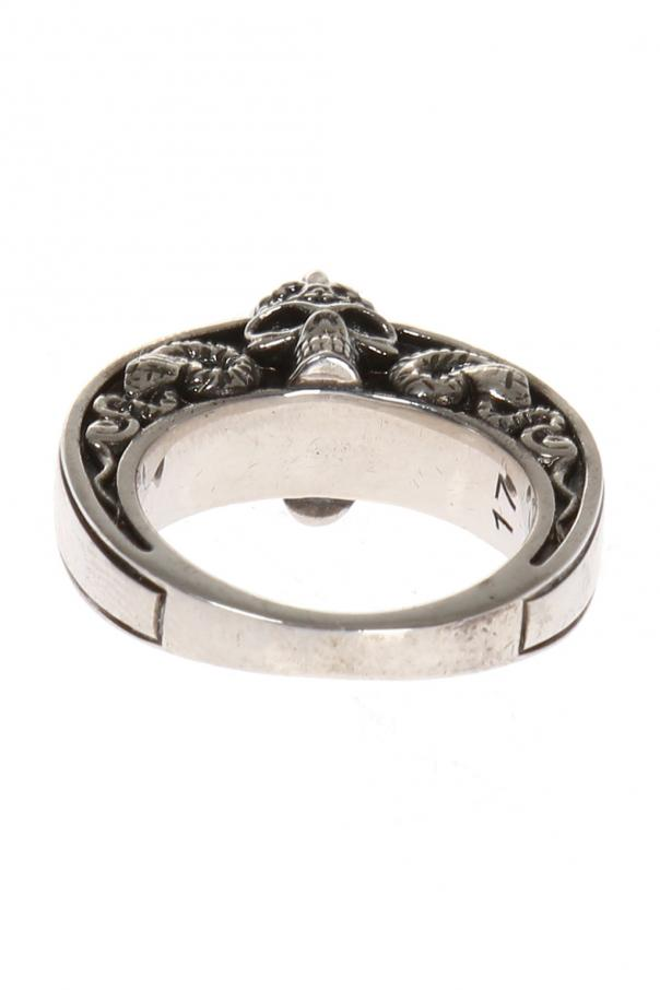 Ring with skull od Alexander McQueen