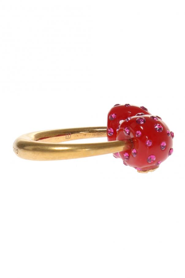 Ring with resin pearls od Gucci