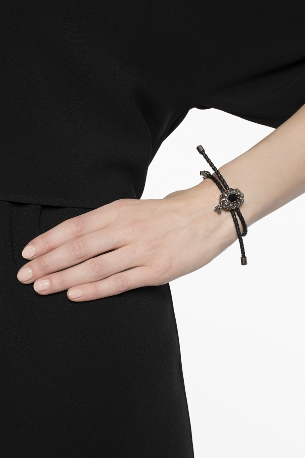 Braided leather bracelet od Alexander McQueen