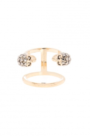 Double ring with a skull motif od Alexander McQueen