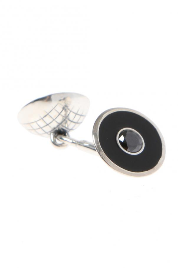 Silver cuff links od Bottega Veneta