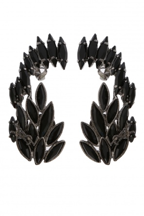 Logo clip earrings od Saint Laurent Paris