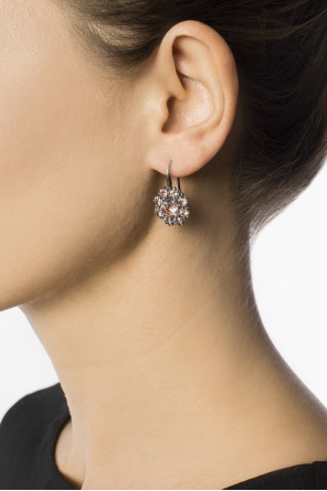 Hanging silver earrings od Bottega Veneta
