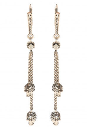 'chain skull' pendant earrings od Alexander McQueen