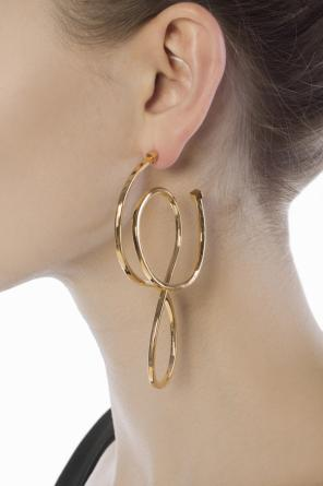 Brass earrings od Balenciaga