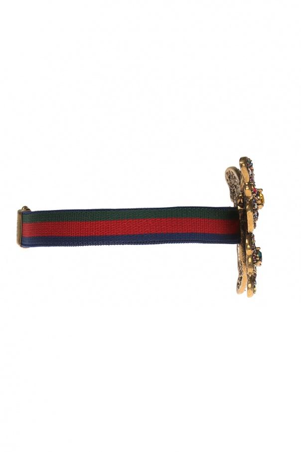 'web' stripe bracelet od Gucci