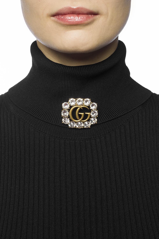 Gucci Encrusted brooch