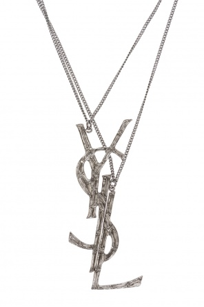 Double logo necklace od Saint Laurent