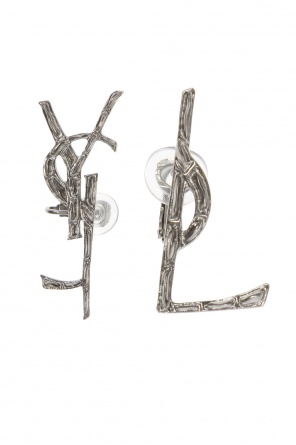 Logo clip-on earrings od Saint Laurent